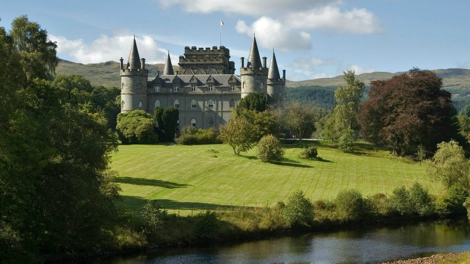 Inveraray Castle, by Loch Fyne in Argyll