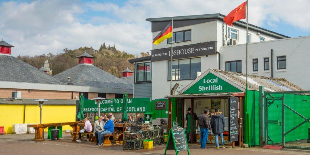 Seafood Hut Oban, Railway Pier, Argyll Scotland