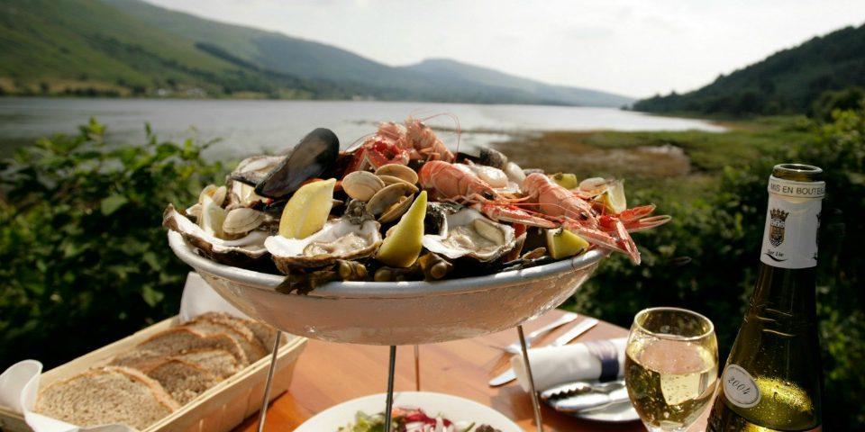Argyll seafood at Loch Fyne