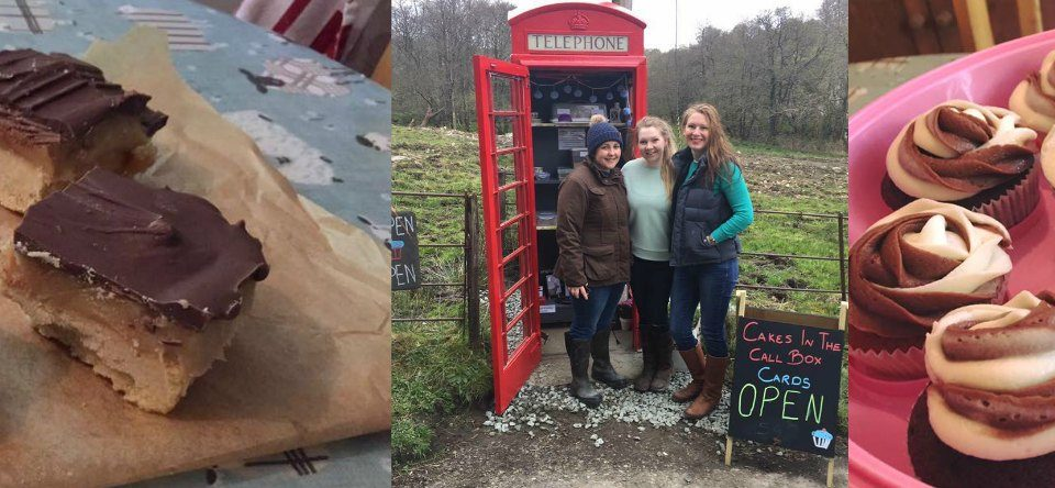 Cakes in the Call Box at Cladich, Loch Awe, The Blue Cottage, Loch Awe, Ardbrecknish, Argyll