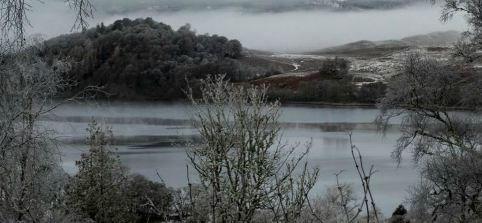 loch awe, argyll. taychreggan, winter break